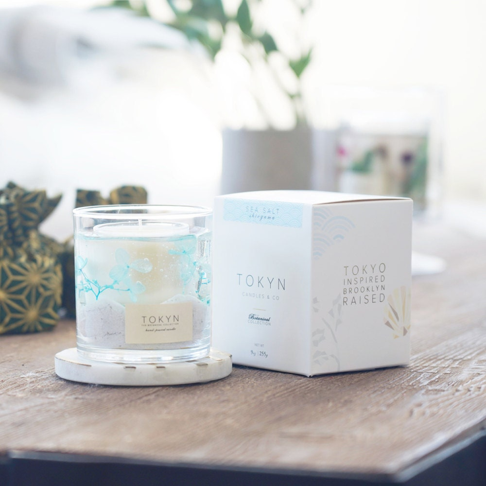 Shiogama sea salt candle from Tokyn Candles