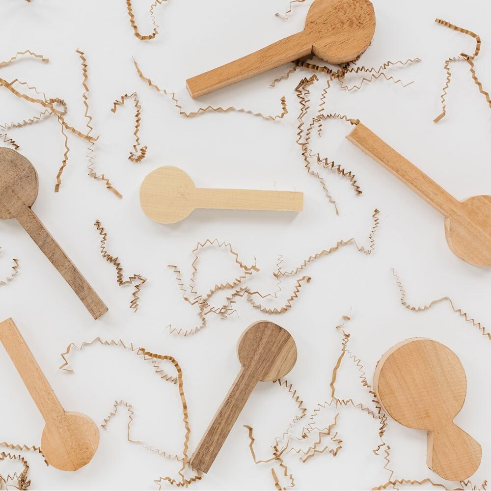 Wooden blanks that will become spoons