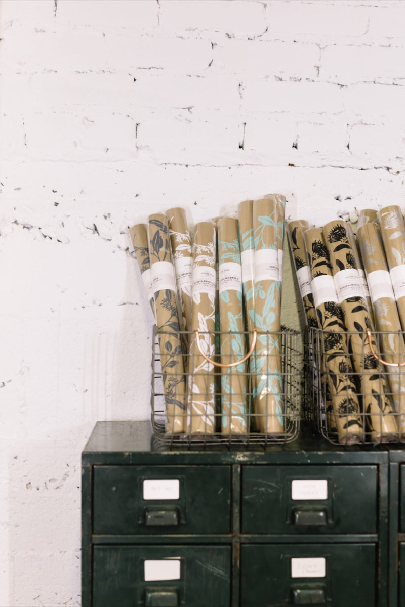 Rolls of wrapping paper ready to ship