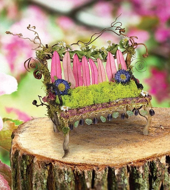 Fairy-House-pink-bench