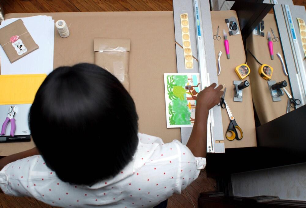 Karina in her studio
