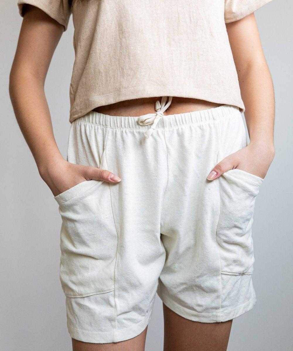 Unisex organic hemp lounge shorts from Object Apparel, on Etsy