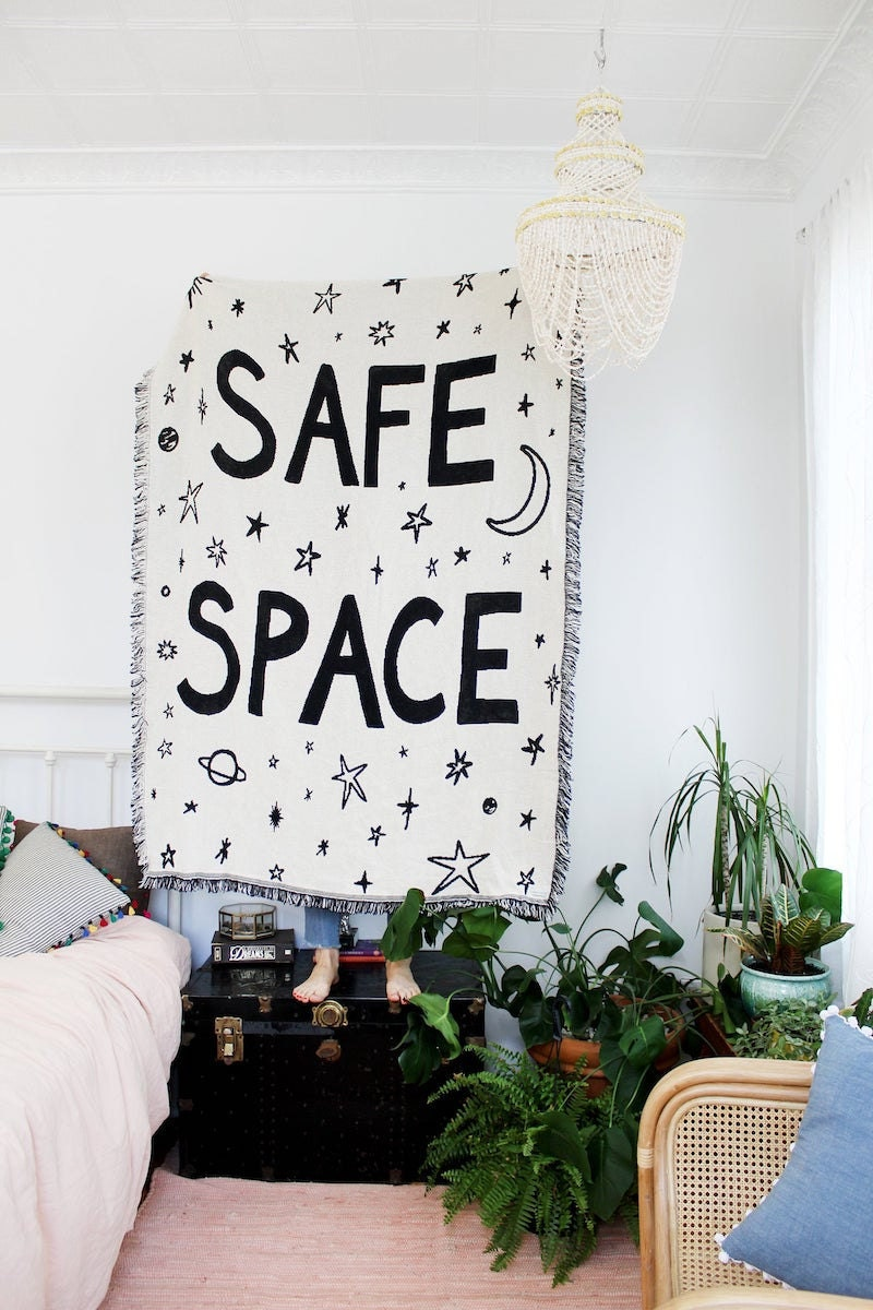 """""""Safe Space"""" blanket from Calhoun & Co."""