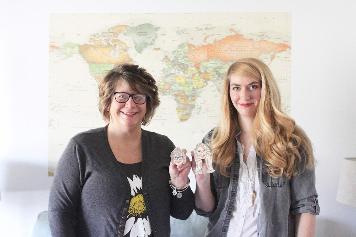 Kit Atlas owner Brittney Andrews with her mother, magnet maker Regina Galliher