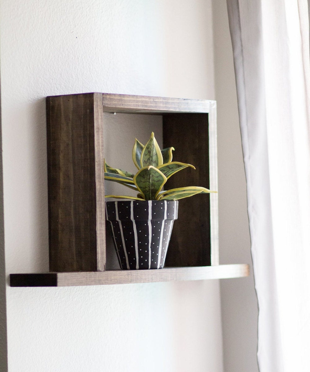 Floating square shelf from TheCraftySwirl, $20
