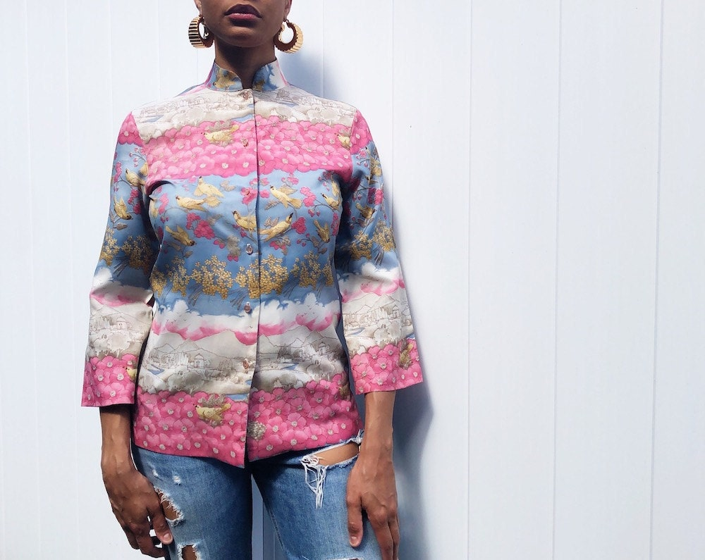 Vintage Mardi Mode print shirt from Threads of Habit