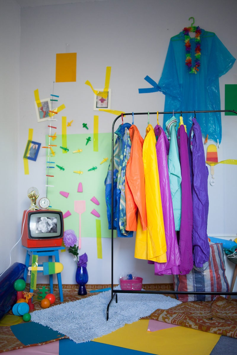 Agnieszka's colorful home studio space