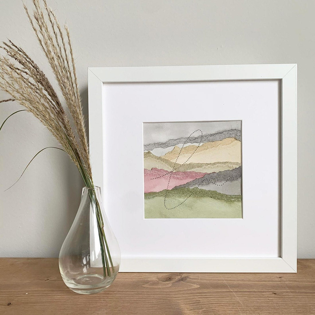 Abstract landscape wall art from Ayaka MP Art on Etsy