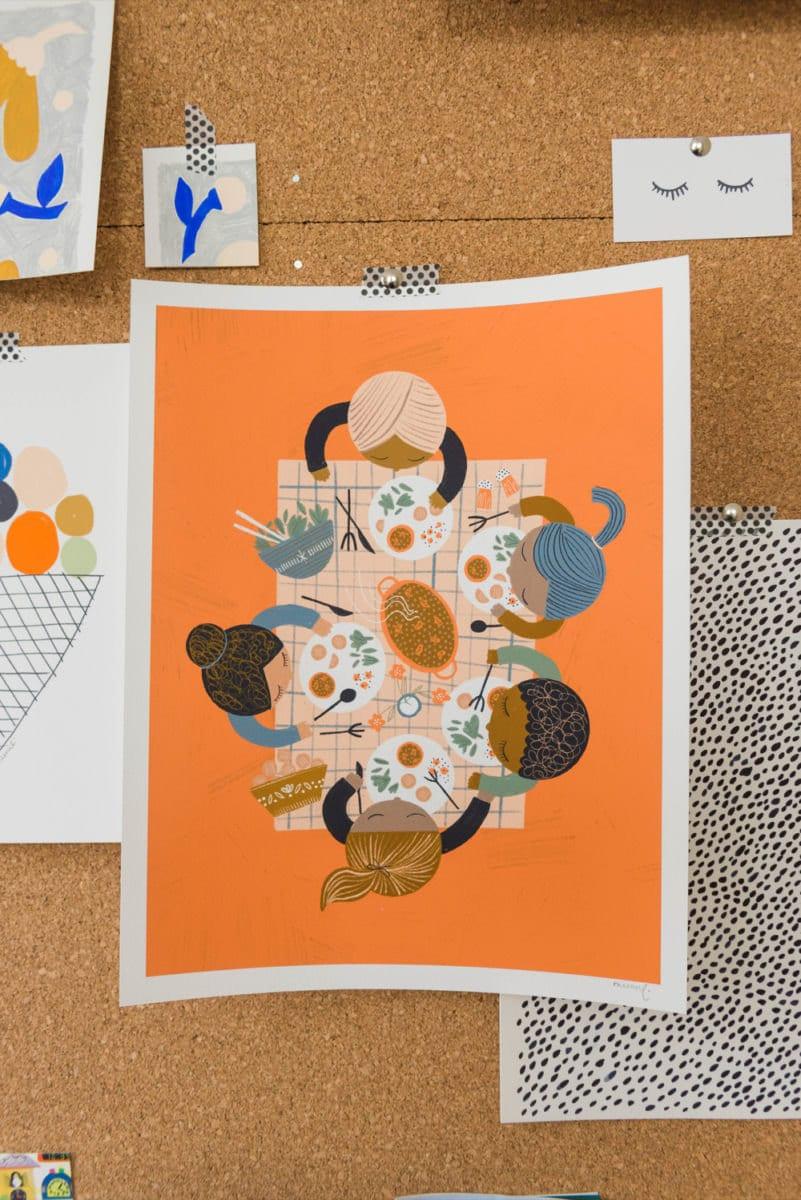 Foodie Friends art print from Meenal Patel Studio