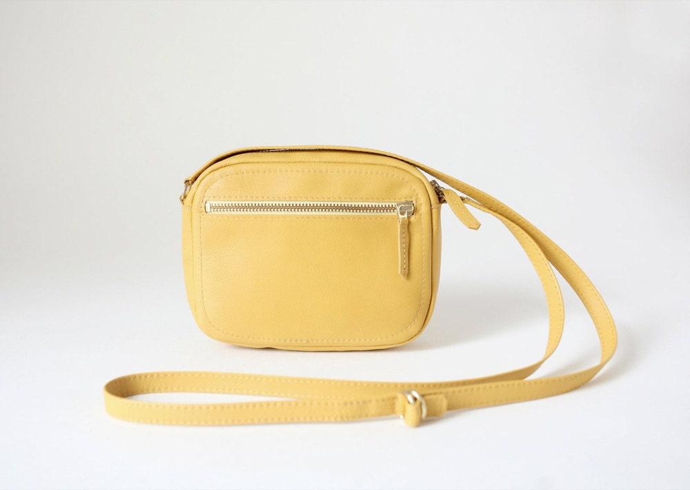 Small crossbody zip bag from Alex Bender in yellow