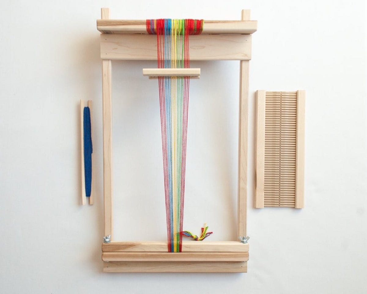 """Beginner's 10"""" rigid heddle loom from Oake and Ashe"""