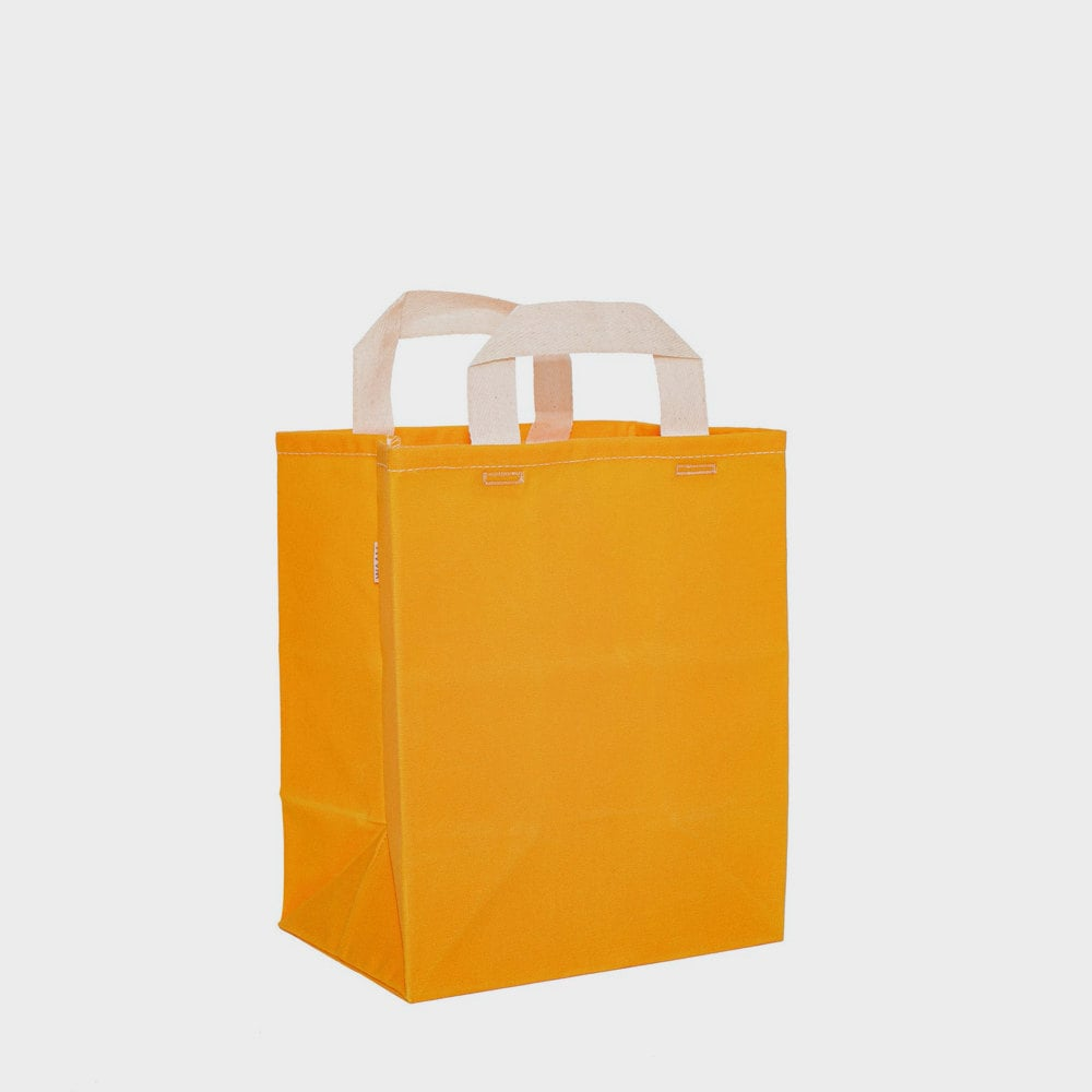 A yellow canvas market bag from WAAM Industries
