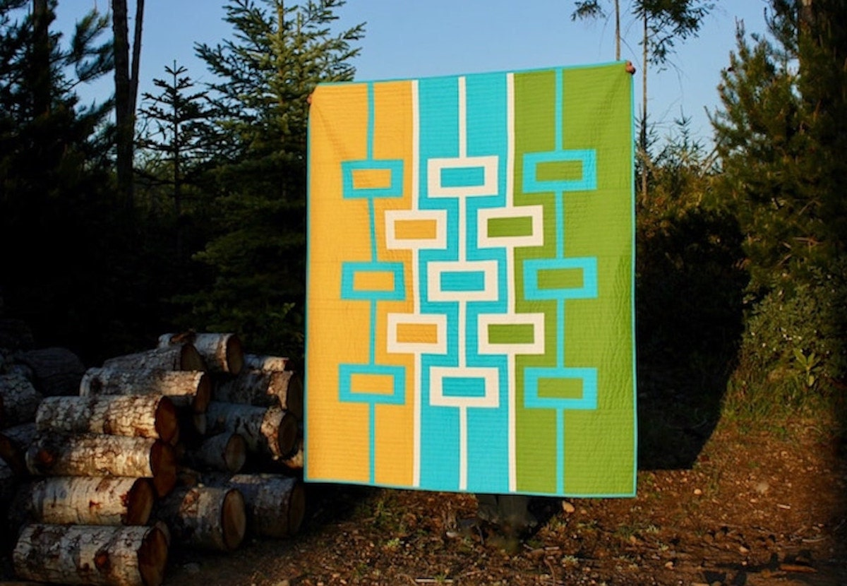 A digital quilt pattern from Etsy