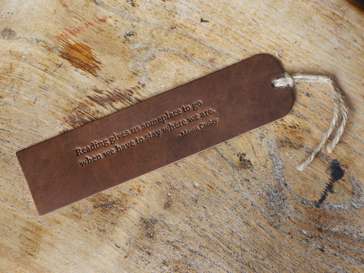 Kingsley Leather bookmark