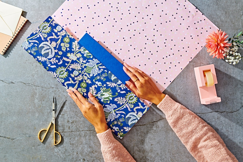 Reversible patterned gift wrap from Favorite Story
