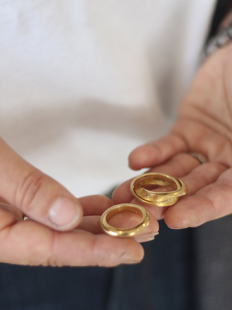 Gold hidden message mobius rings from Soremi Jewellery