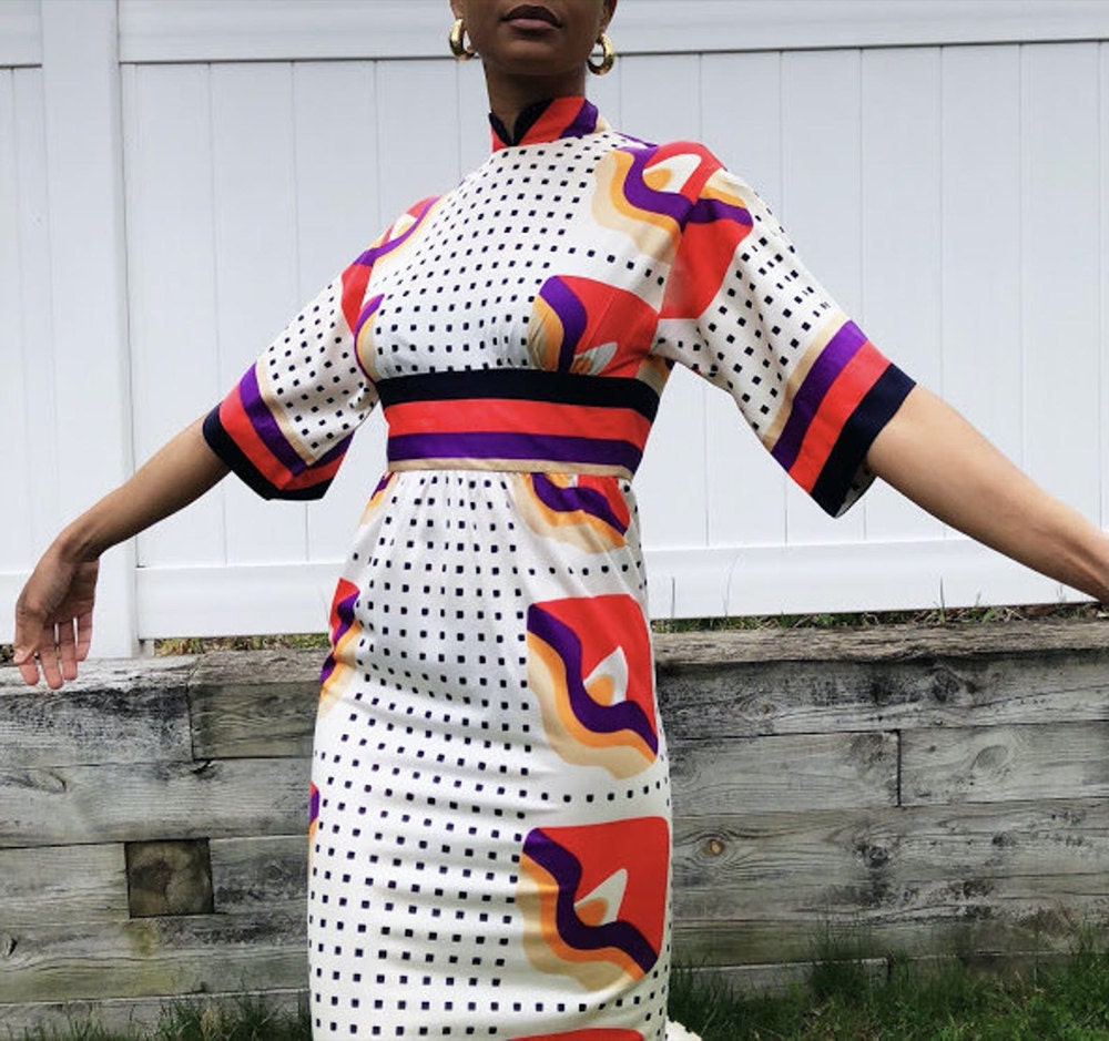 A vintage mod print dress from Threads of Habit