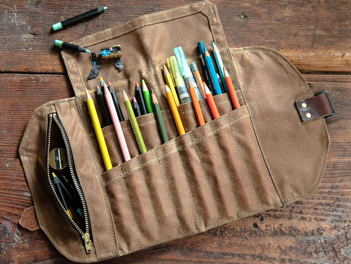 A pencil case from Peg and Awl's line