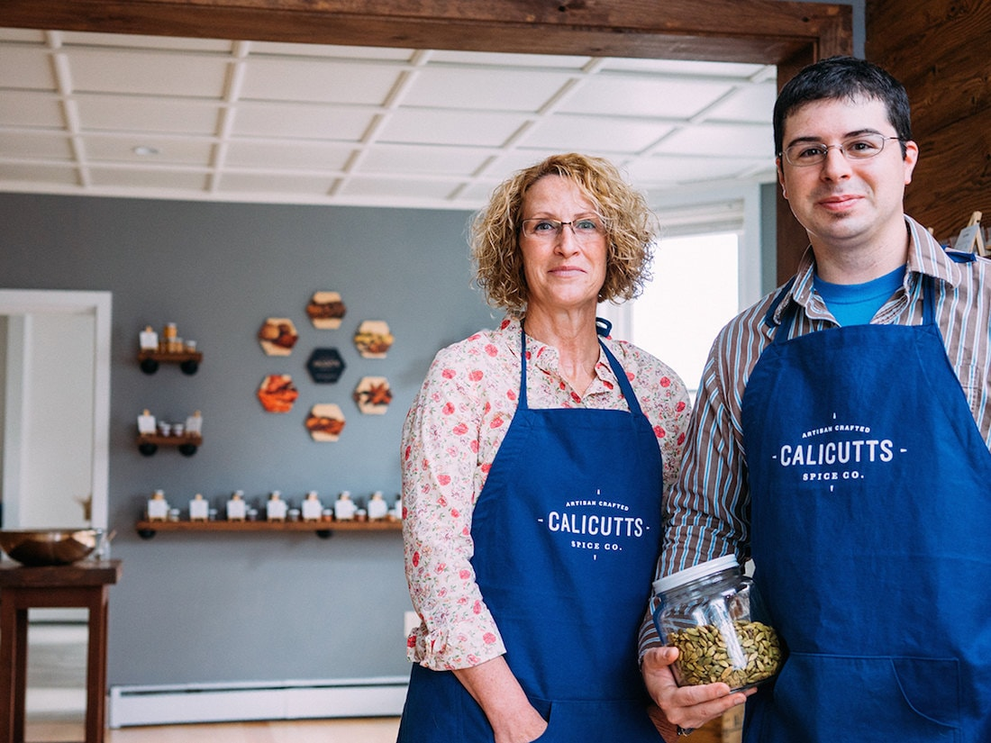 Portrait of Calicutt Spice Co. co-owners Robert Orth and Autum Ellis