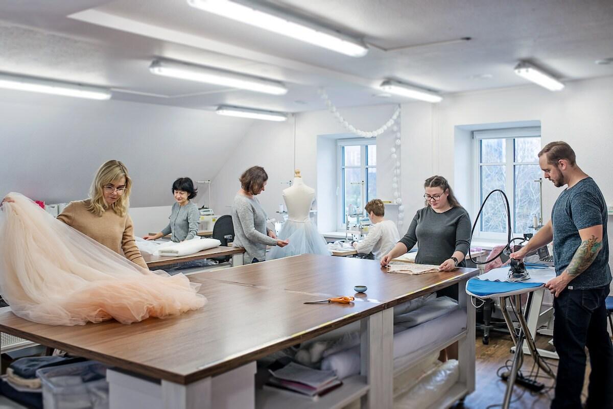 The Wardrobe by Dulcinea team at work in their studio