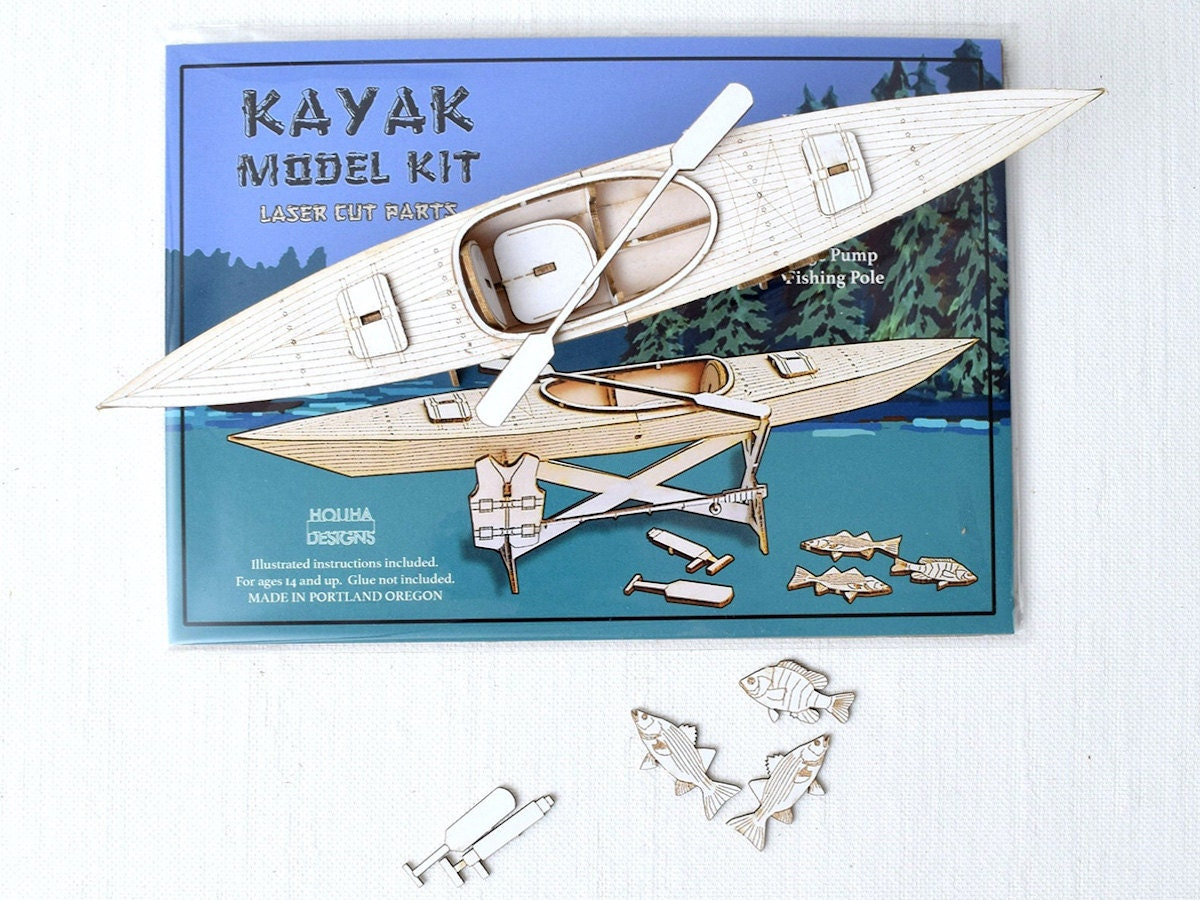 Kayak model kit from Houha Designs, on Etsy