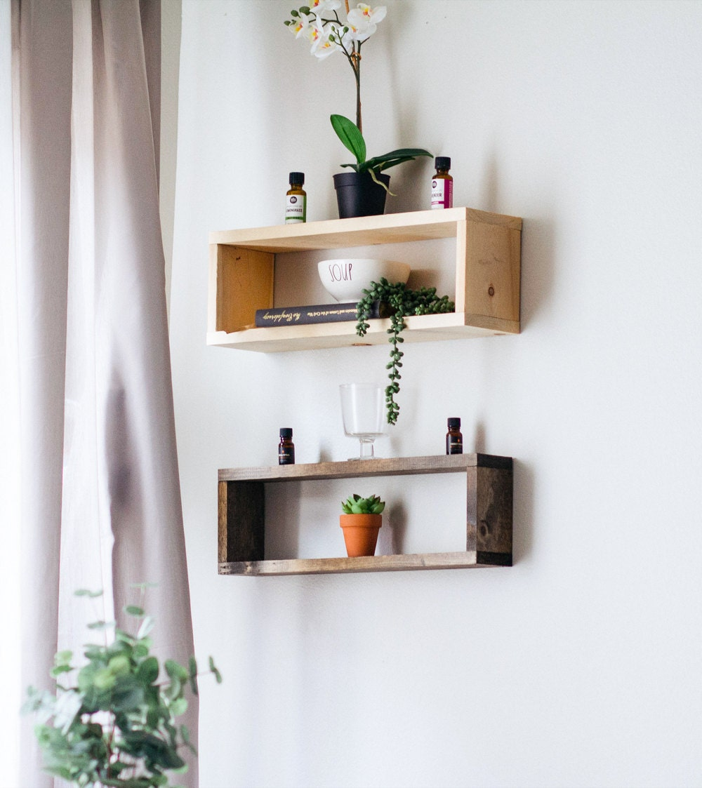 Floating shelves from TheCraftySwirl, from $25