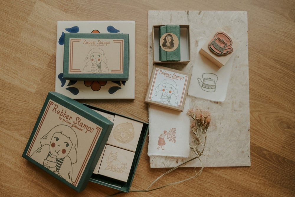 Rubber stamps from Justine Gilbuena