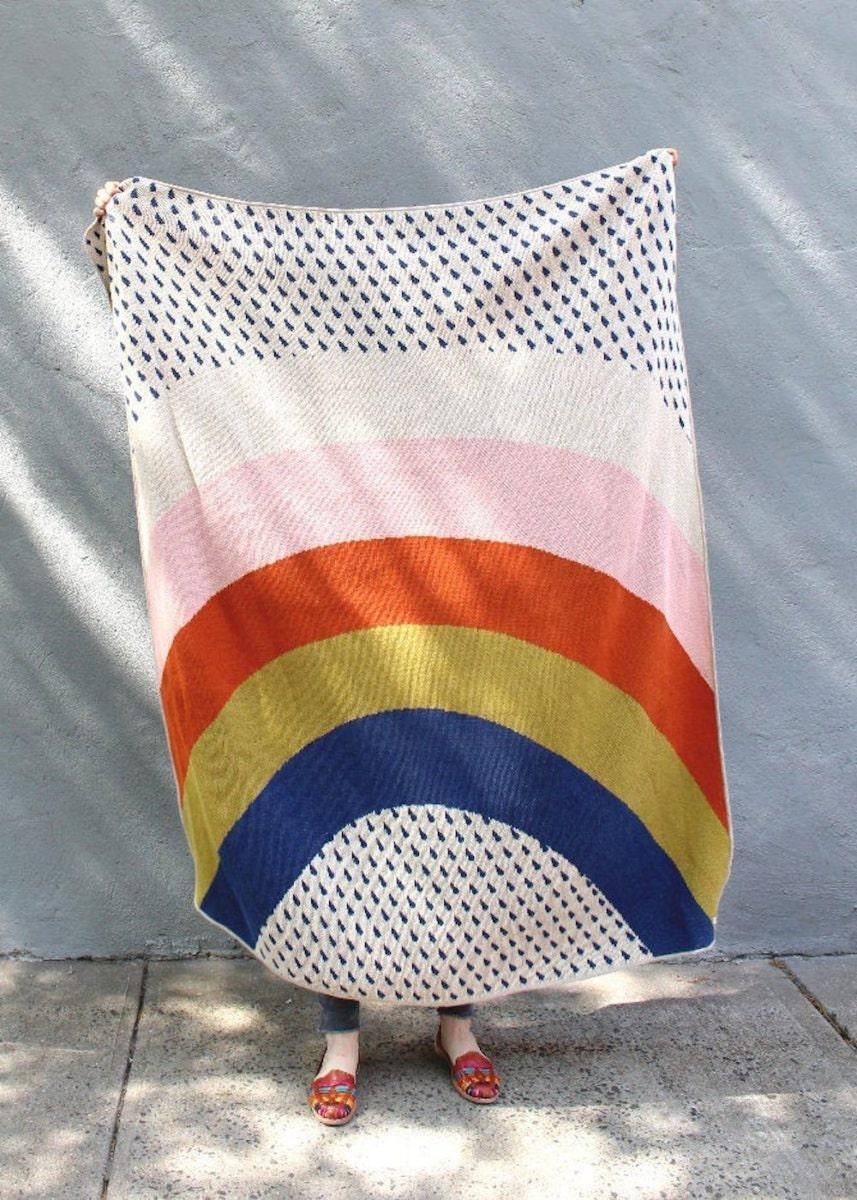 A rainbow blanket from Calhoun and Co.