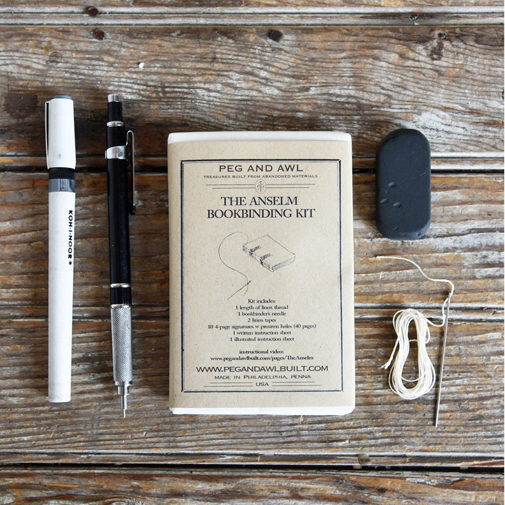 A bookbinding kit from Peg and Awl