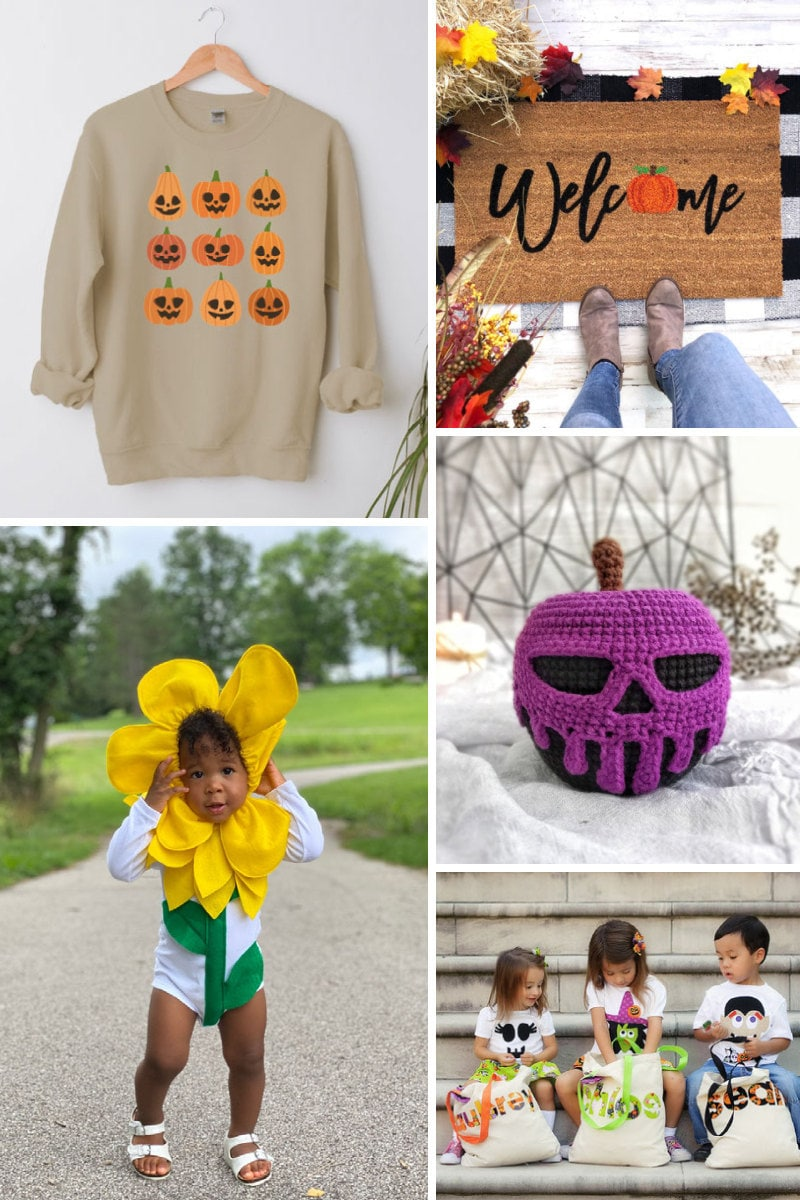 Assorted Halloween items from Etsy