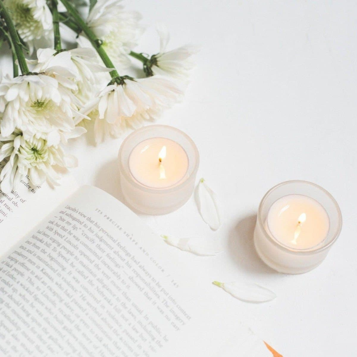 Unscented soy tealight candles from Aphantri Tealights, on Etsy