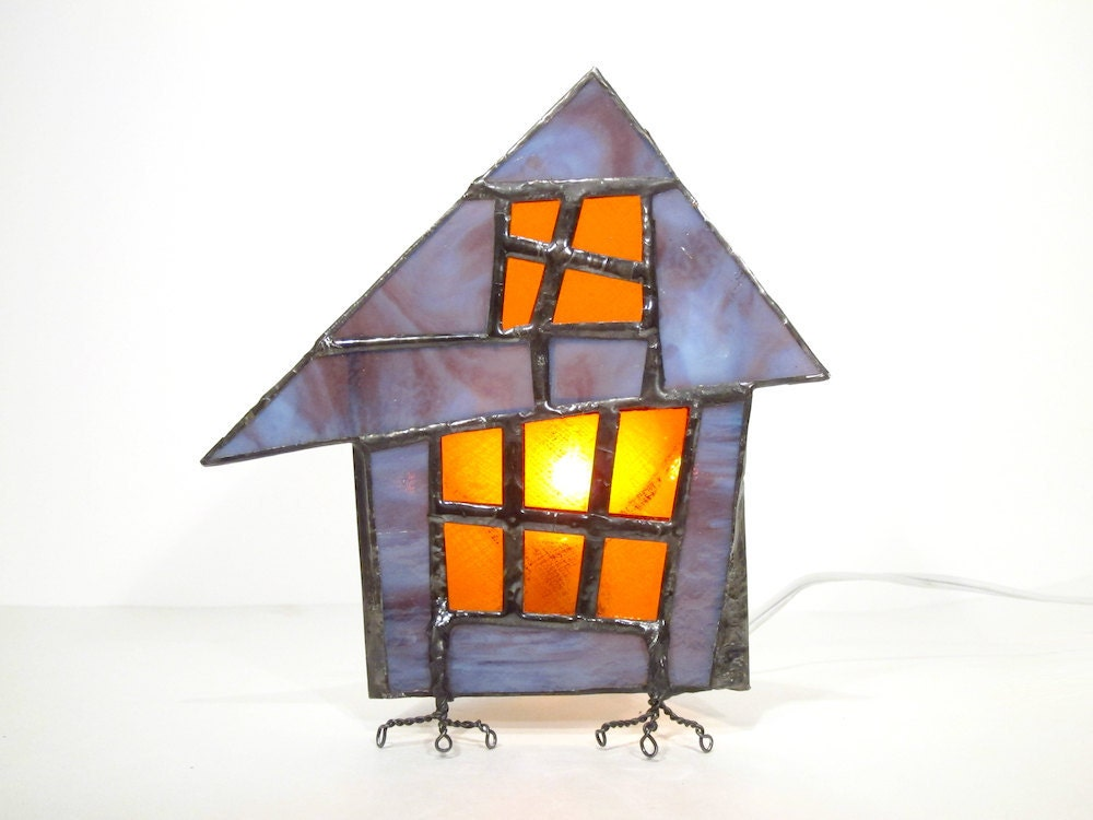 One of Alla's spooky stained-glass houses