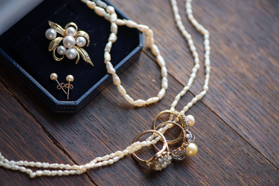 An assortment of matching pearl pieces from KK Vintage Collection