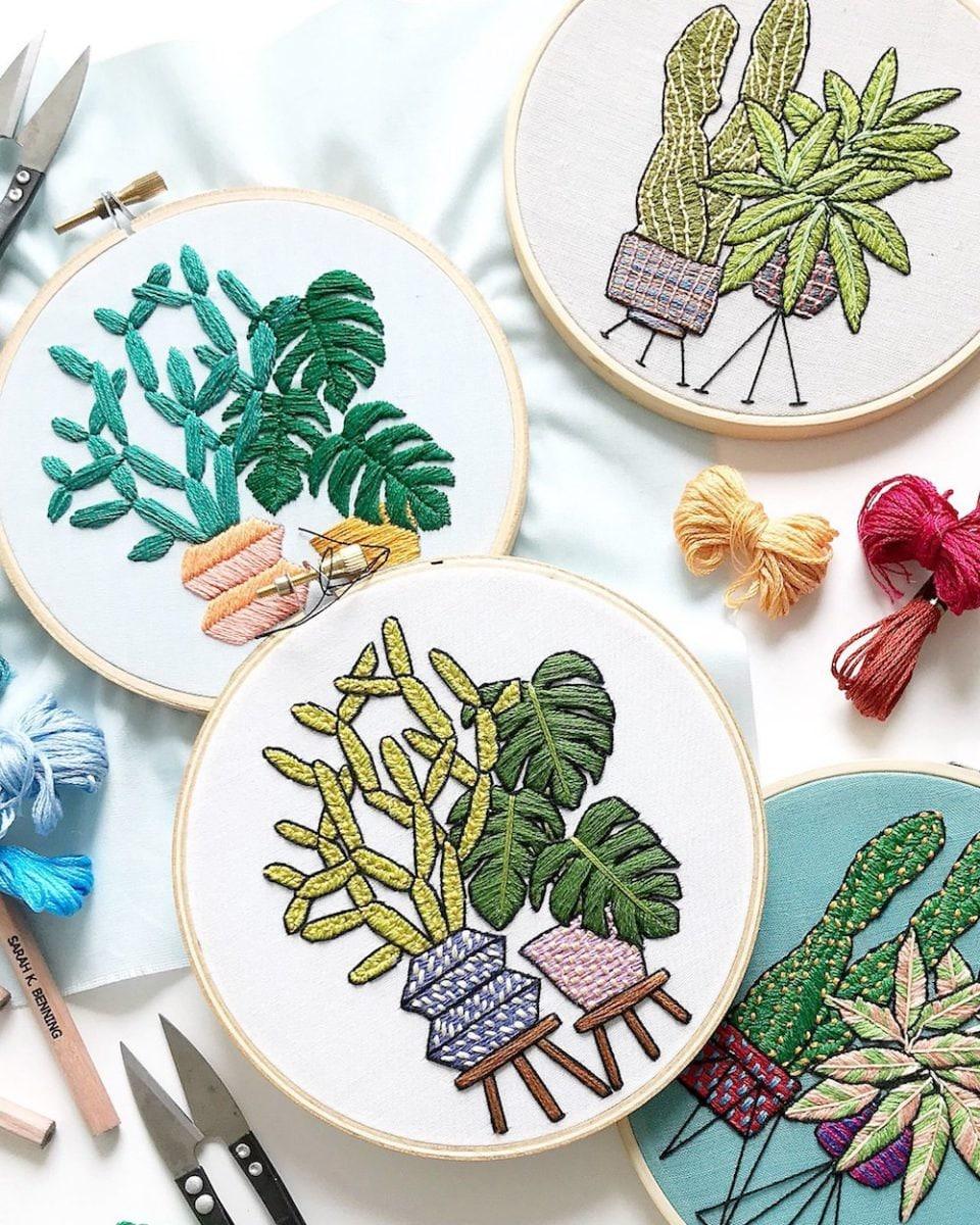 Sarah's embroidery work
