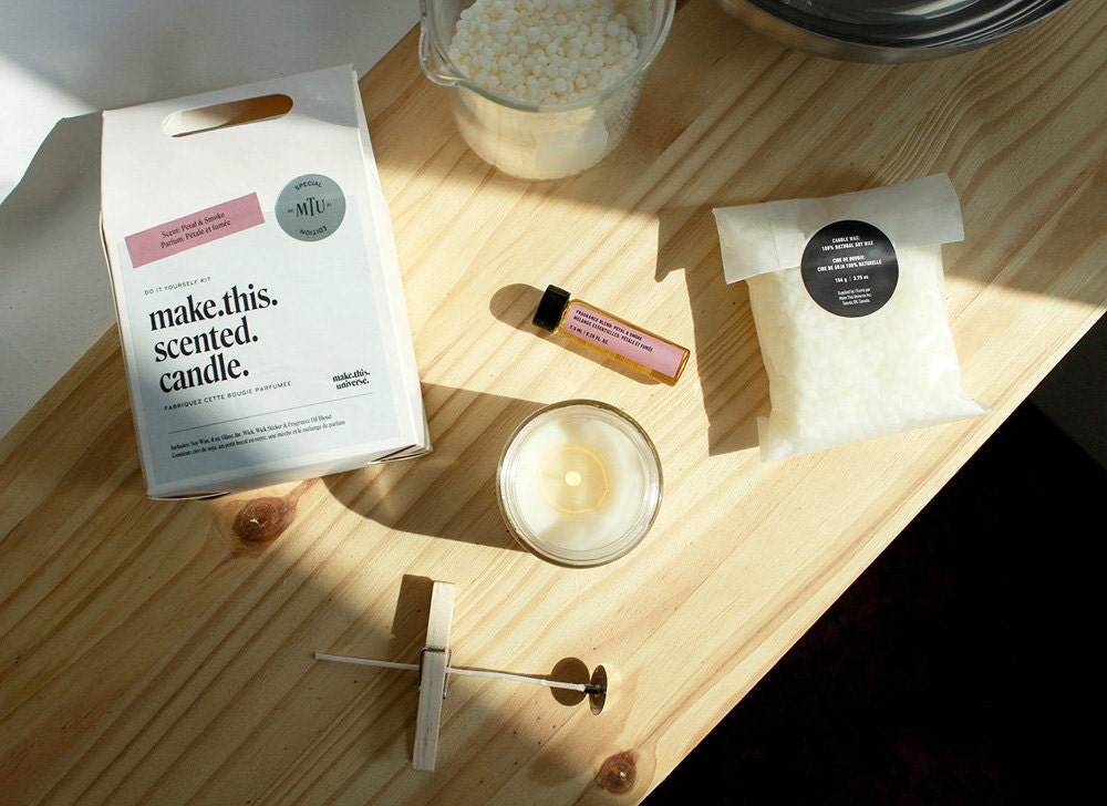 Everything you need to make a scented candle
