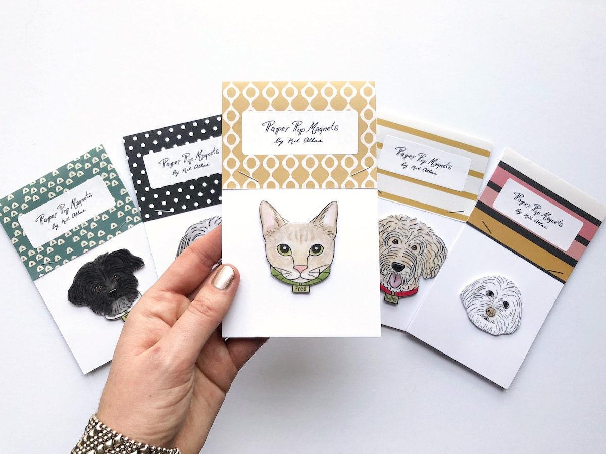 Custom pet magnets from Kit Atlas