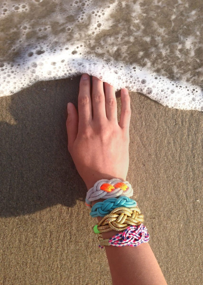 DIY nautical knot bracelet, made with tips and supplies from Etsy