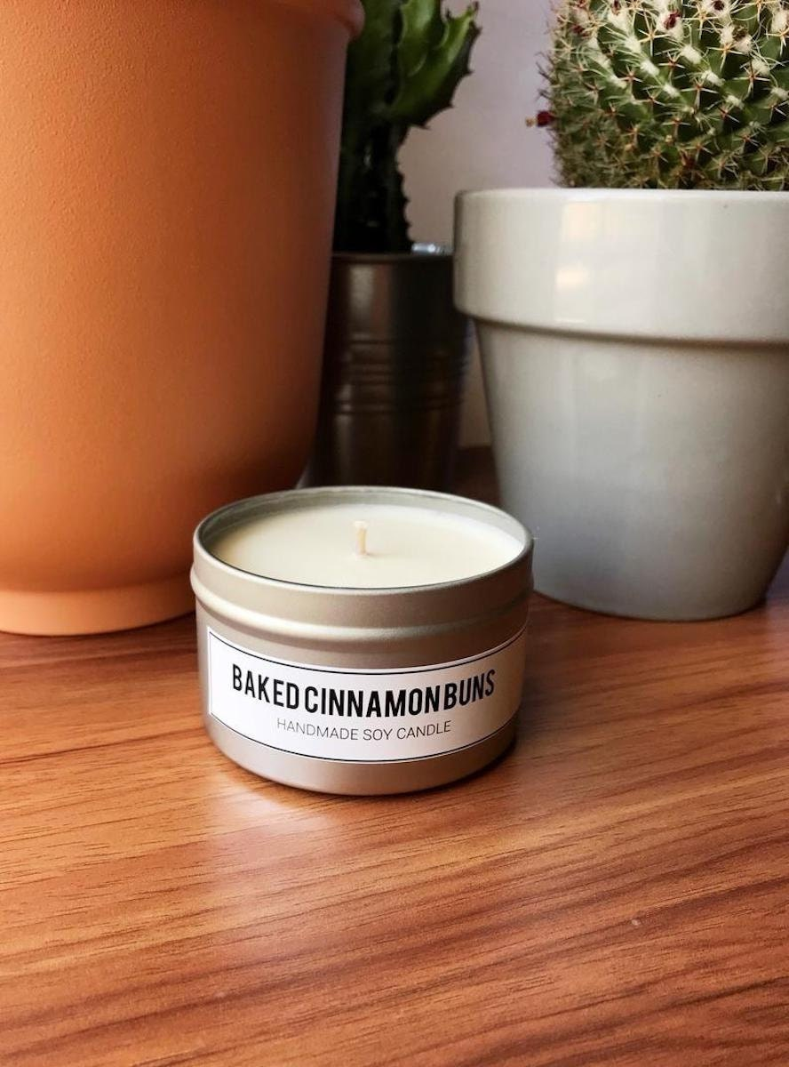 Baked Cinnamon Buns candle from Sydney Elyse on Etsy