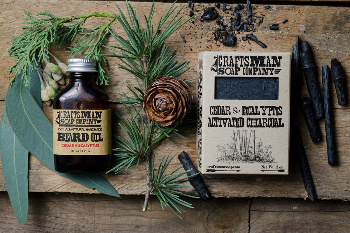 Beard oil and soap duo groomsmen gifts from Craftsman Soap Co, on Etsy