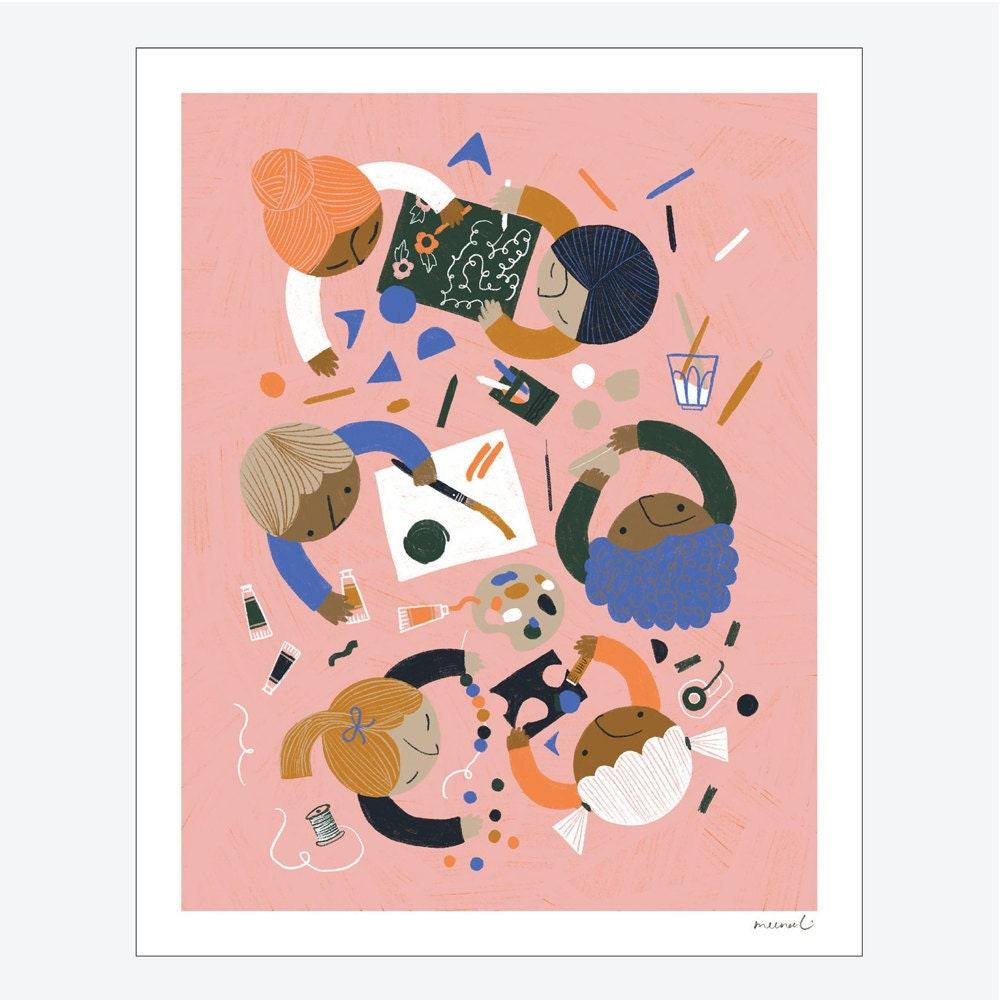 Arts and Crafts art print from Meenal Patel Studio