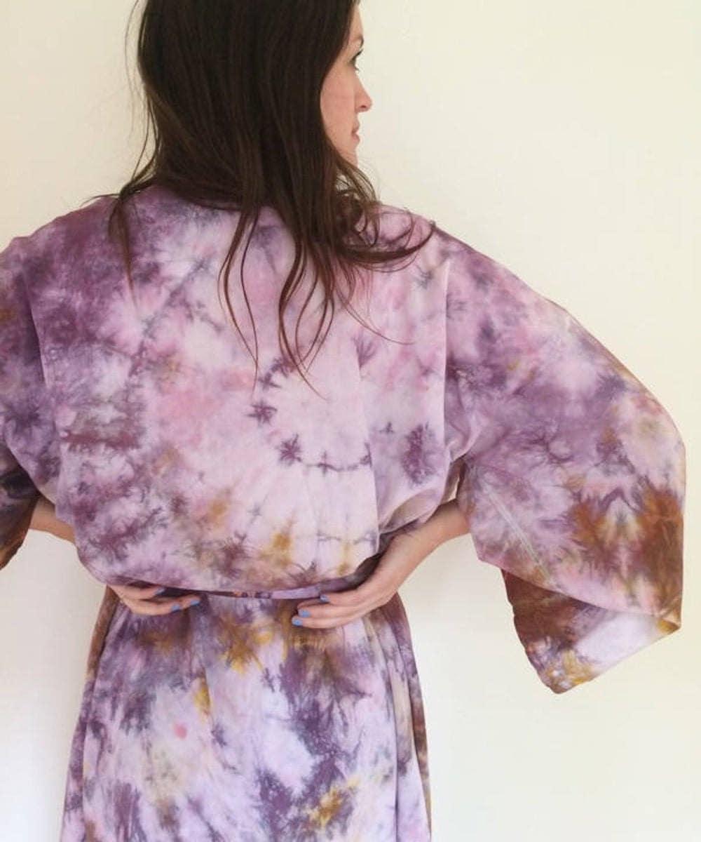 Tie-dyed kimono robe from Etsy
