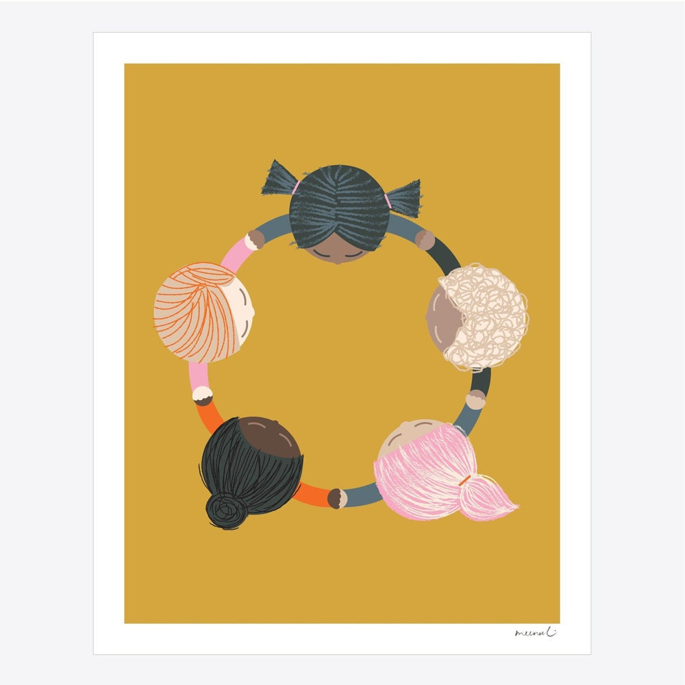 Hold Hands Together art print from Meenal Patel Studio