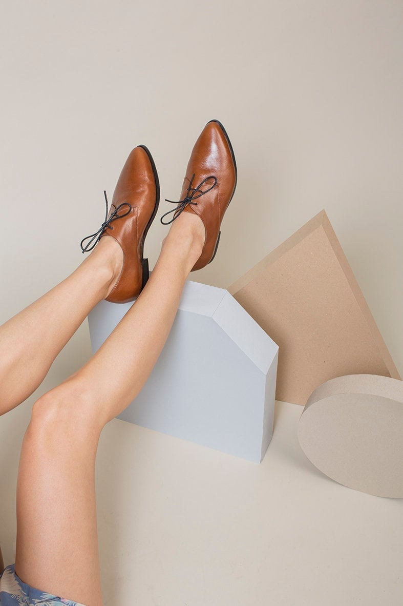 Brown leather Oxfords from Katz and Birds