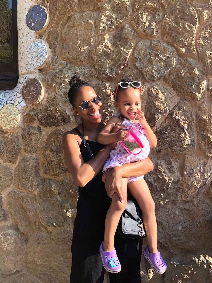 Etsy's Tiffany Washington with her daughter