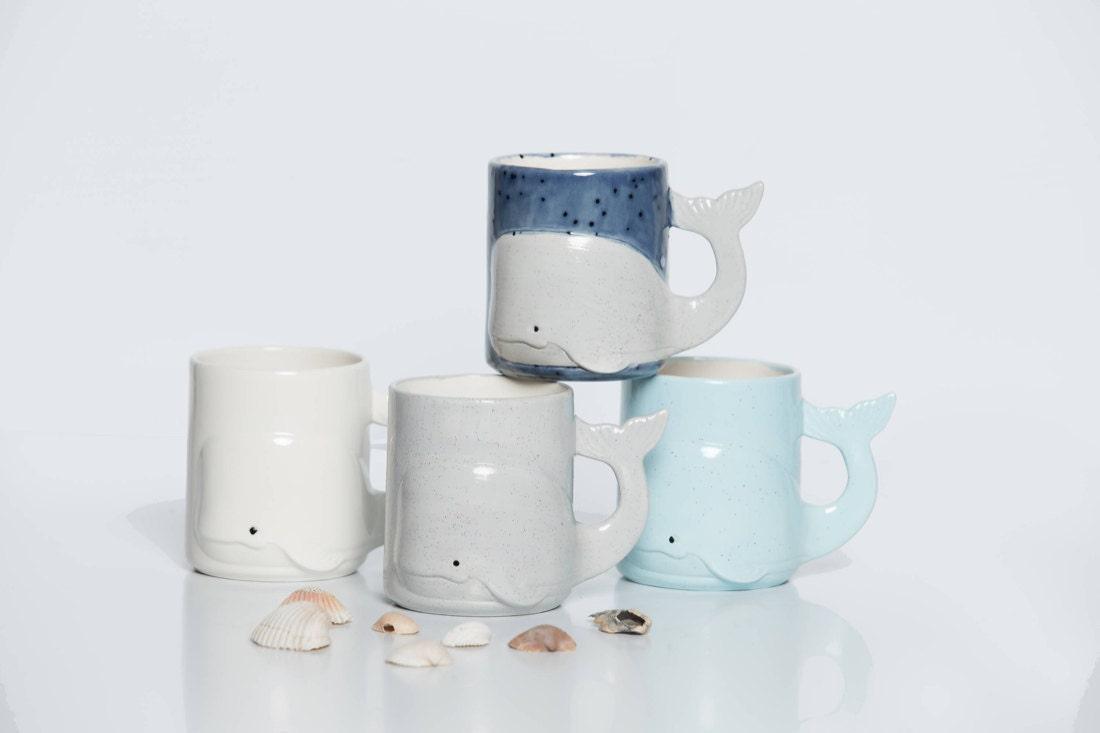 Ceramic whale mugs from Creativity Happens