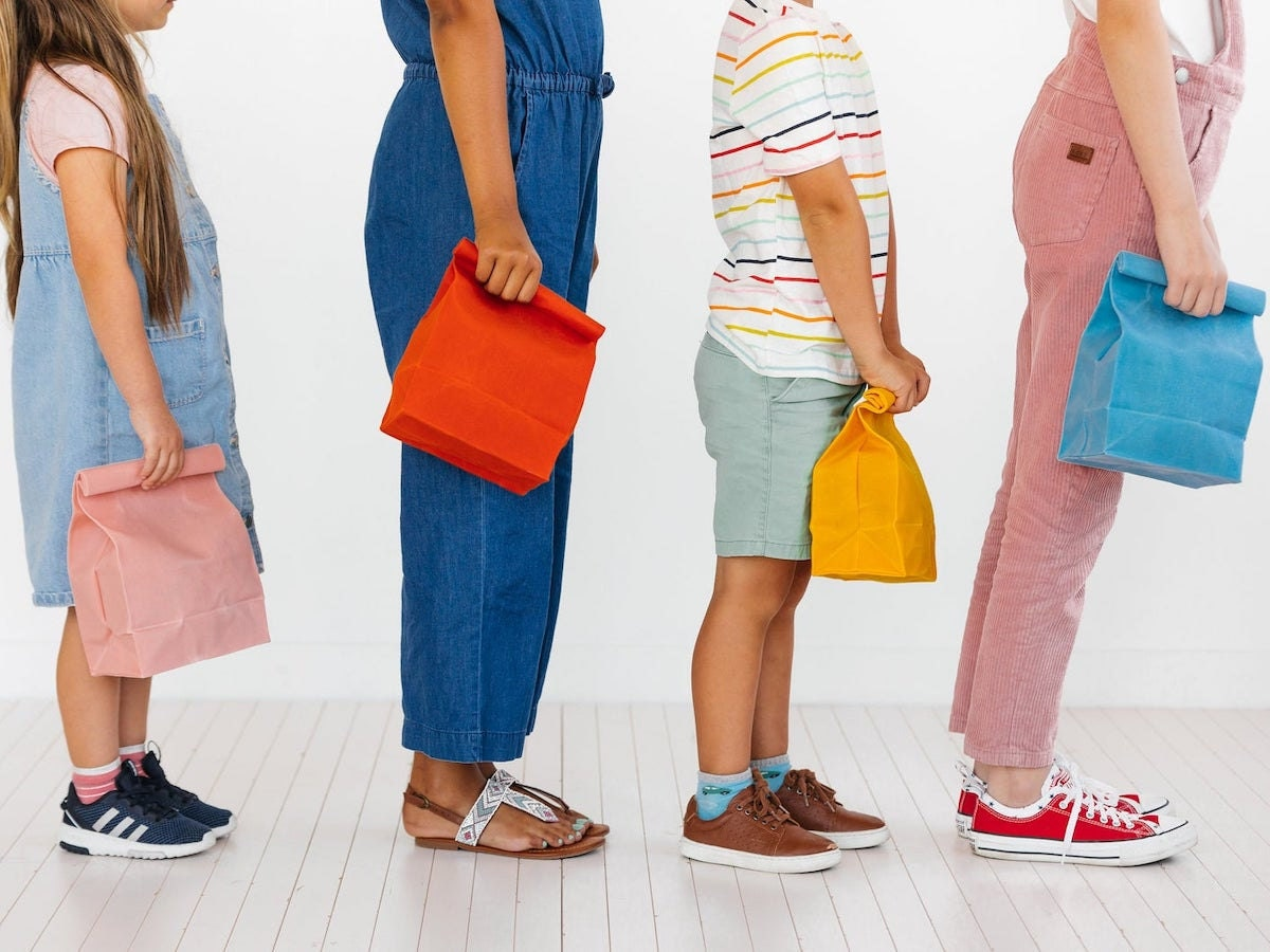 Reusable waxed canvas back-to-school lunch bags from WAAM Industries