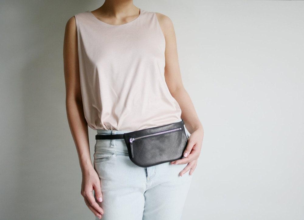 A mini black belt bag from Alex Bender