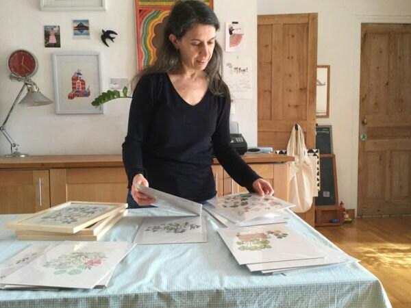 Yolande working in her studio
