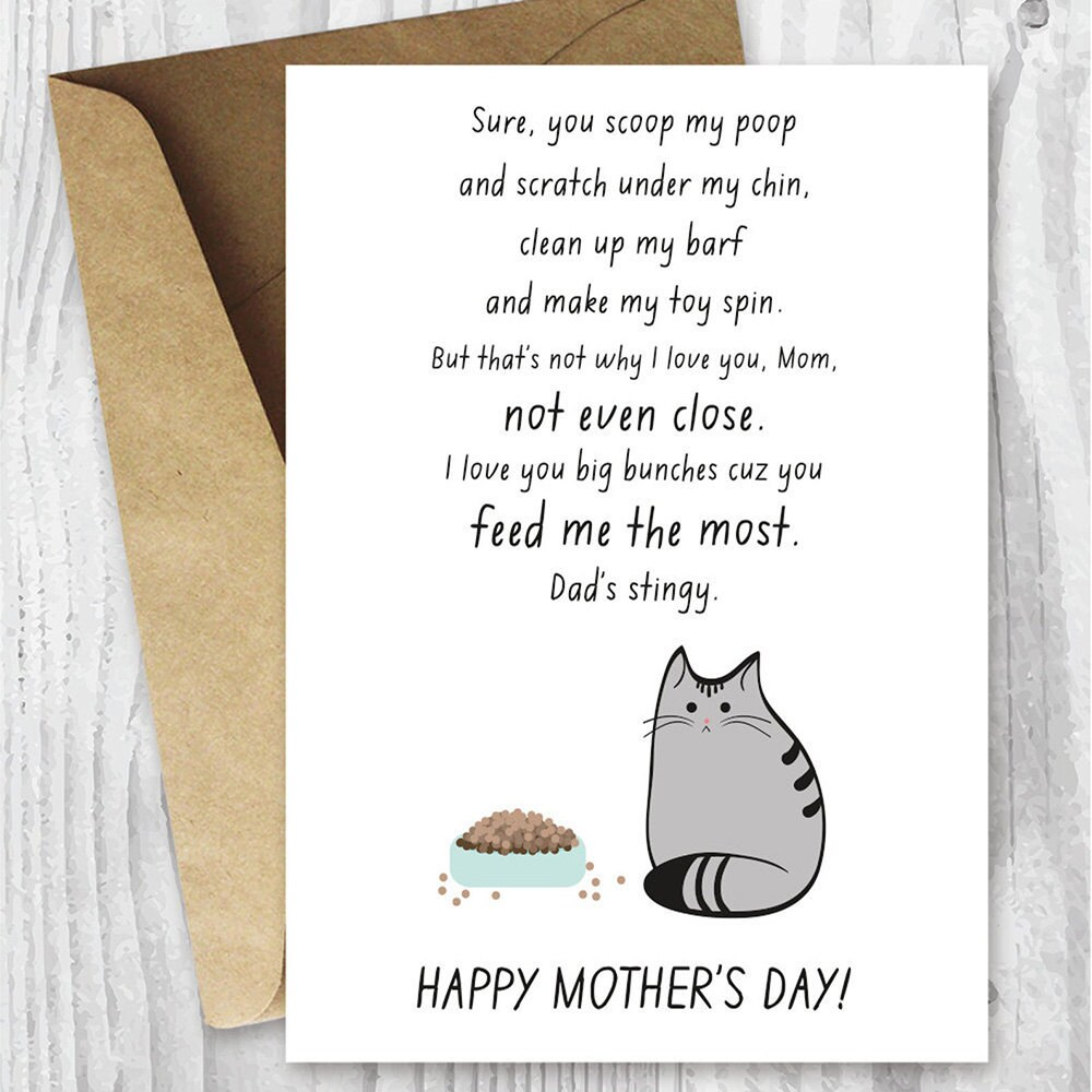 A unique Mother's Day card for a cat mom