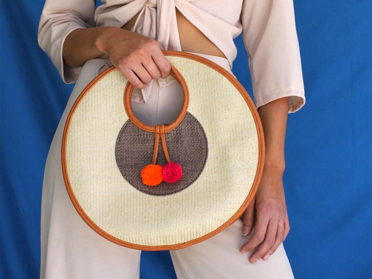 Round woven handbag from All 4 Augast
